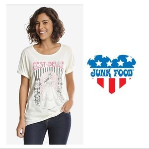 Junk Food Beauty And The Beast C'est Belle Tee
